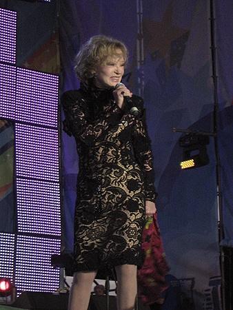 Людмила Марковна на последнем концерте в Харькове 24 августа 2010 года.