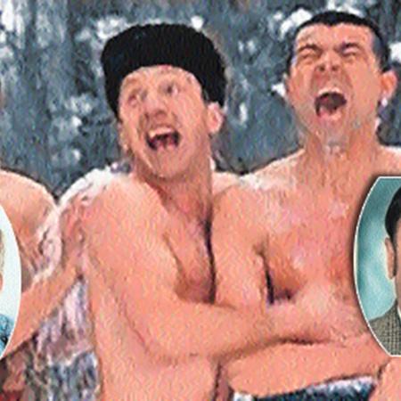 Хмырем стал Вицин (на общем фото слева), а не Дуров. Василия Алибабаевича сыграл Муратов (на фото справа), а пробовался Этуш.