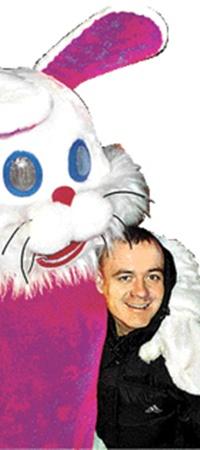 Руслан из Кировограда и его друг Кролик.