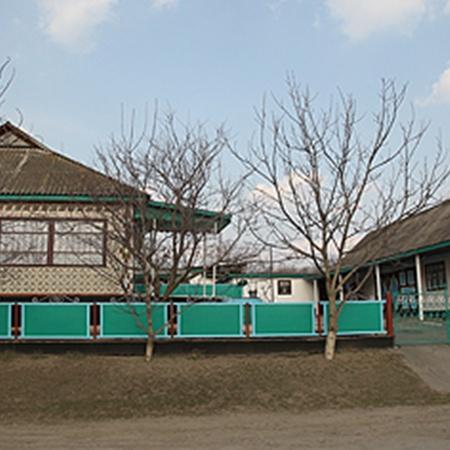 Родительский дом Оксаны в селе Могильное Кировоградской области, конечно, не президентские хоромы, но выглядит весьма неплохо.