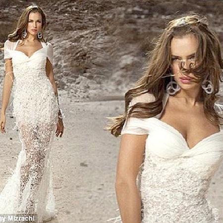 А в этом Ира похожа на Афродиту, выходящую из пены морской. Фото Daily Mail.