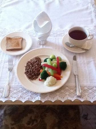 Завтрак Тимошенко. Фото с персональной страницы лидра БЮТ.