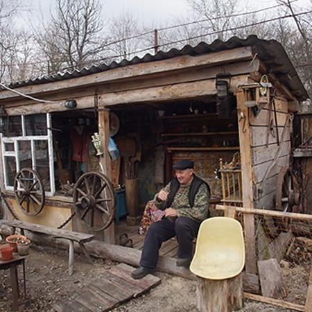 Музей чернобыльских находок, который создал учитель девочки Михаил Шилан.