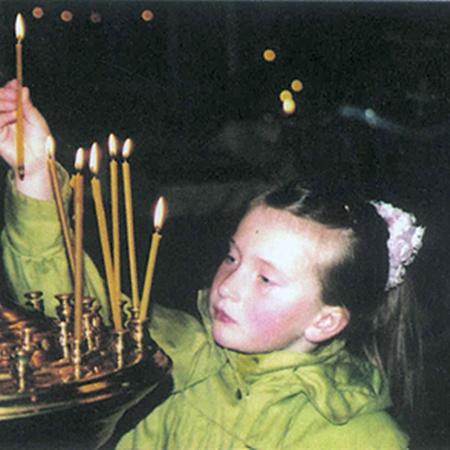 Марийка в чернобыльской Свято-Ильинской церкви.