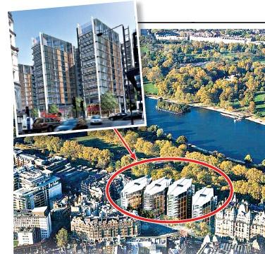 В престижном комплексе на Найтсбридж 86 квартир, из окон которых открывается вид на Гайд-парк.