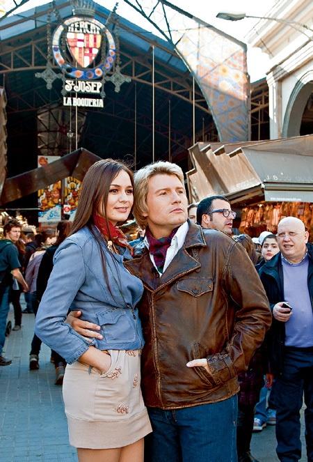 Басков со своей новой девушкой в Барселоне. Фото с сайта www.eg.ru.
