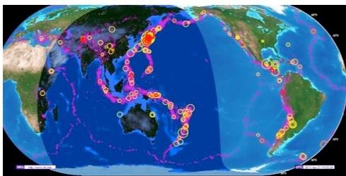 Сейсмическая активность на Земле. Фото: С сайта f7x.ru