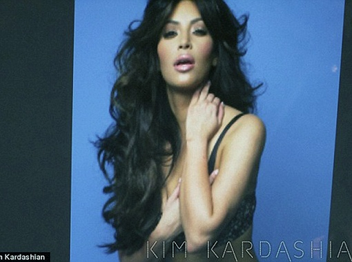 Ким во время фотосессии. Фото Daily Mail.