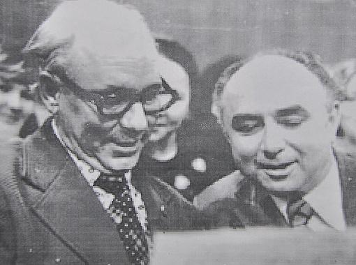 Пометун и Рыбников стали настоящими друзьями. На фото: во время празднования Дня металлурга в Запорожье, 1970-е годы.