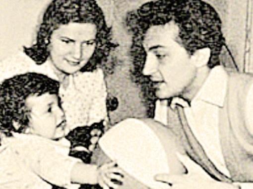 Михаил с первой женой Гретой и сыном Кириллом.