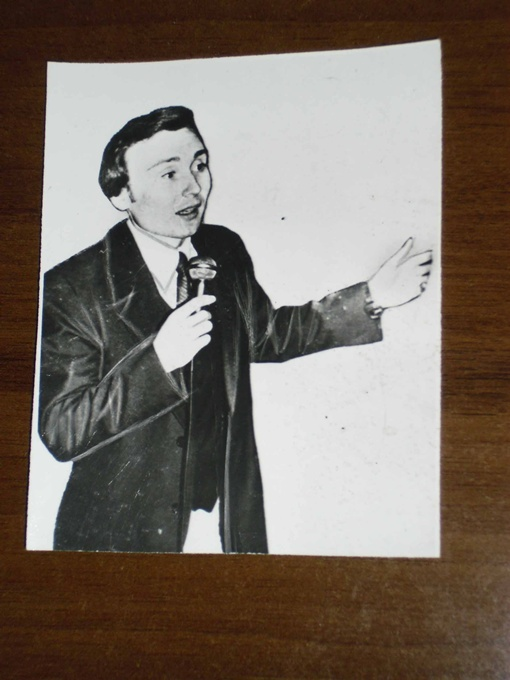 Иван Шепелев после концерта во Дворце культуры Припяти (февраль 1989 года).  Фото автора и из личного архива Ивана Шепелева.