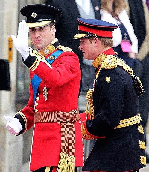Принцы Гарри и Уильям. Фото АП.