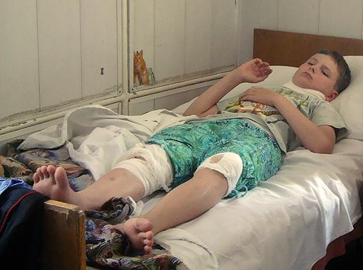 Владик Мушкивский пробудет в  больнице минимум неделю. Фото автора.
