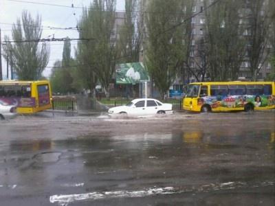 На Мариуполь обрушился ливень. Фото: 0629.