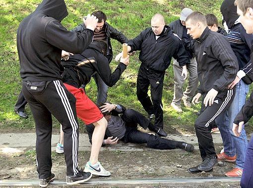 Столкновения во ЛЬвове. Фото АП