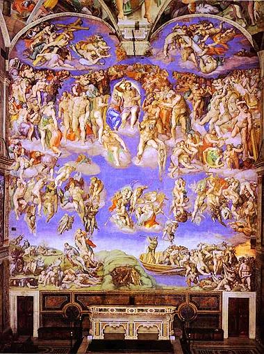 «Страшный суд». Сикстинская капелла, 1536-1541 гг.