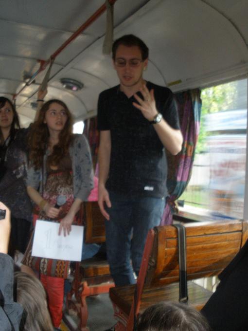 Стихи в трамвае. Фото автора