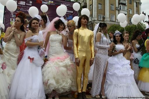 В параде были и мужчины. Фото: Александра Борушко.