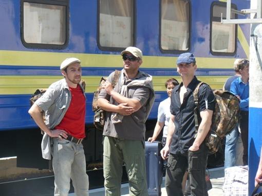 Севастополоьские актеры сыграли банду контробандистов.