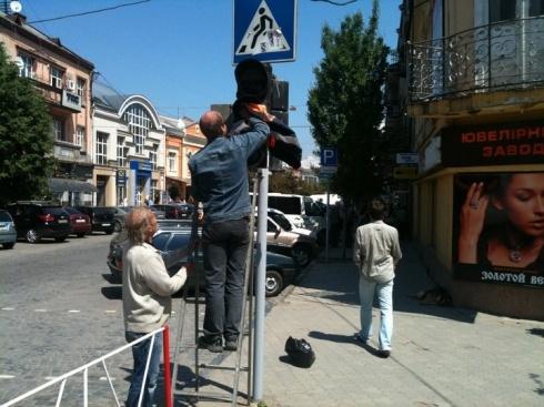 В Мукачево к приезду Януковича помыли даже светофоры. Фото с сайта mukachevo.net.