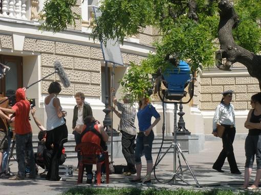 Рабочий момент съемок. Фото Инна Ищук