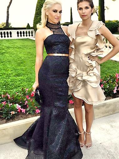 Гвен Стефани - одна из немногих звёзд, которые предпочли наряды чёрного цвета. Фото Spletnik.ru.