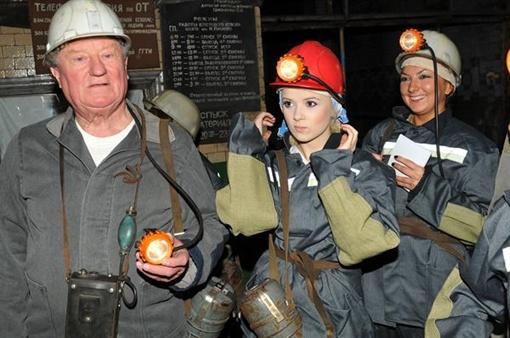Мика Ньютон спустилась в донецкую шахту
