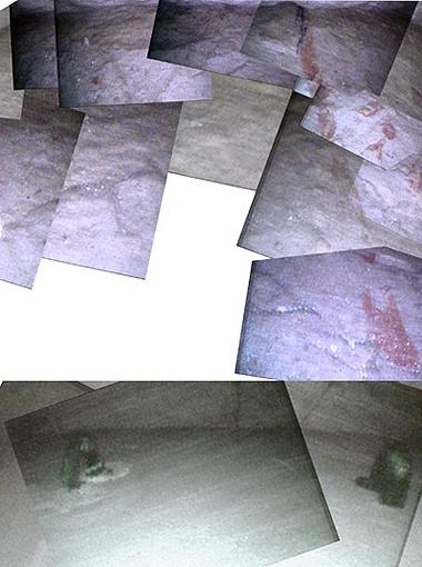 Изображение пола за первой дверцей, собранное из фотографий, сделанных роботом (фото Djedi Team).