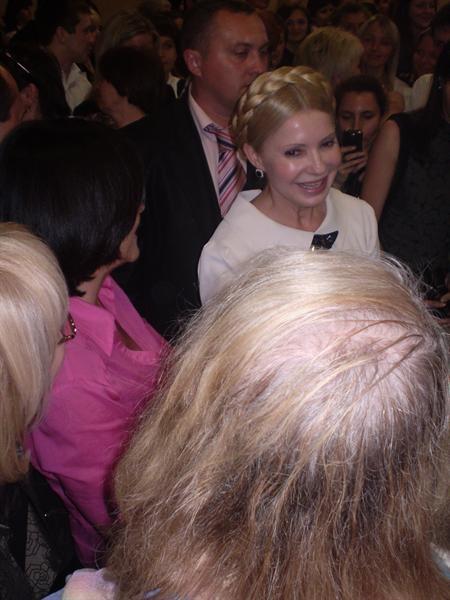 Юлия Тимошенко посетила концерт Алессандро Сафина. Фото Елены Мининой