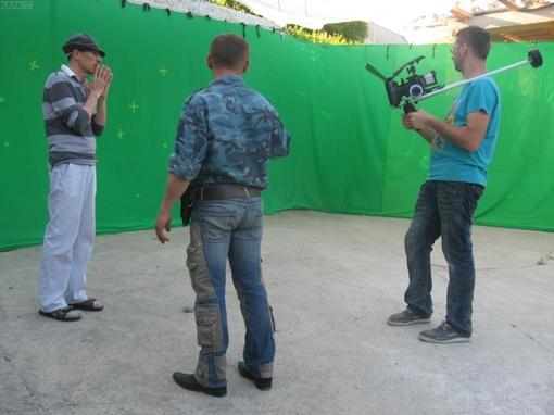 Снимают новый фильм. Фото Кафы.