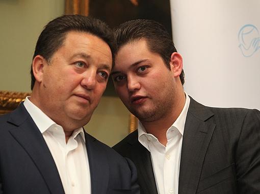 Александр Фельдман с сыном.