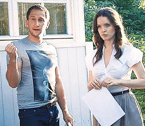 Оскар Кучера и Анна Здор на съемках практически неразлучны.