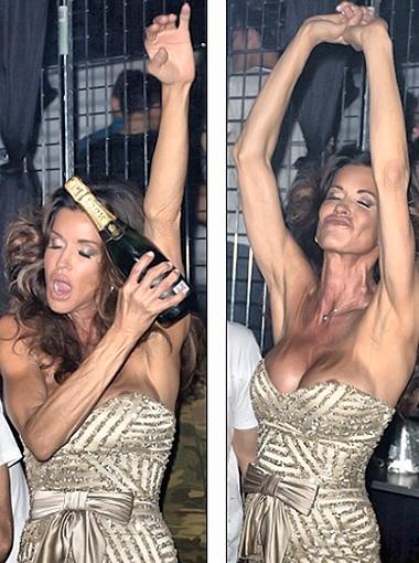 56-летняя Дженис гуляет в ночном клубе: ей море по колено! Фото Splash/All Over Press.