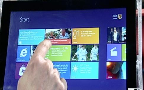 Microsoft показала Windows 8 для планшетов