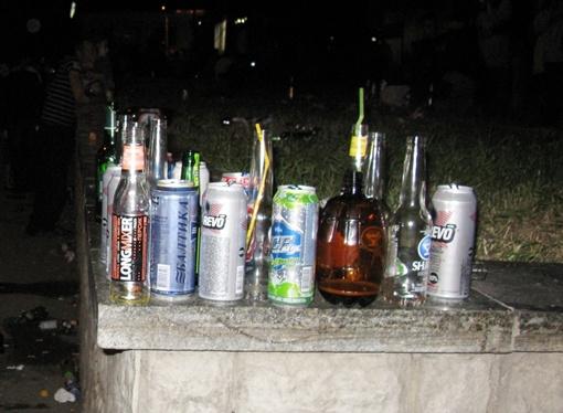 После празднования 227-й годовщины Симферополя стеклотару собирали тачками. Фото автора.