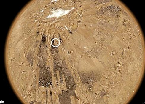 В этом месте Марса обнаружена «станция». Фото: С сайта dailymail.co.uk.