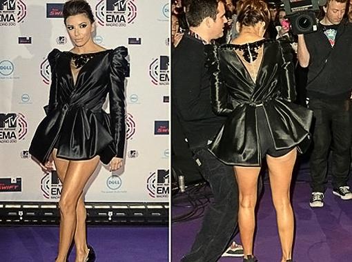 Ева Лонгория продемонстрировала неаппетитные панталончики на церемонии вручения премии MTV. Фото Daily Mail.