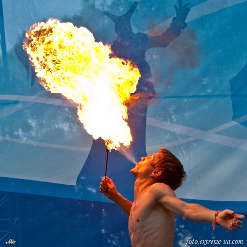 В столице пройдет огненное шоу. Фото foto.extreme-ua.com