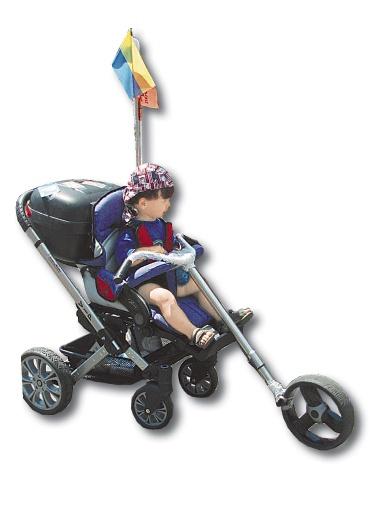 2-летний Иван Маликов в будущем собирается стать матерым байкером. Пока для мотоцикла он мал, мама сконструировала коляску-байк «Харлей-Дэвидсон».