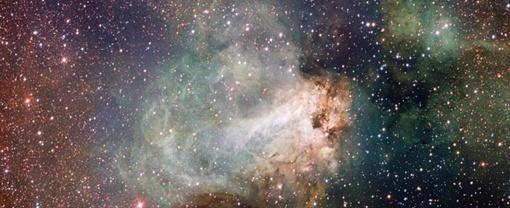 Фото туманности Омега. Изображение ESO/INAF-VST/OmegaCAM.