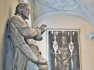 Фотокопия плащаницы в Кафедральном соборе Турина. Фото: Алексей БЕЛЯНЧЕВ