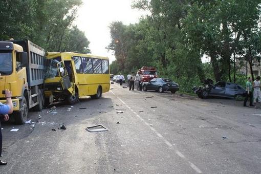 ДТП произошло в Харцызске. Фото: пресс-службы МЧС