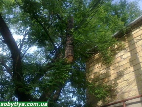 В Симферполе горожанам угрожают висячие электростолбы фото 1