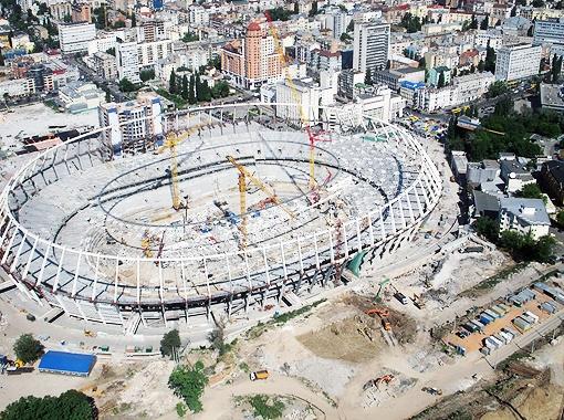 Самым сложным проектом, по мнению Колесникова, оказалась реконструкция стадиона «Олимпийский». Фото УНИАН.