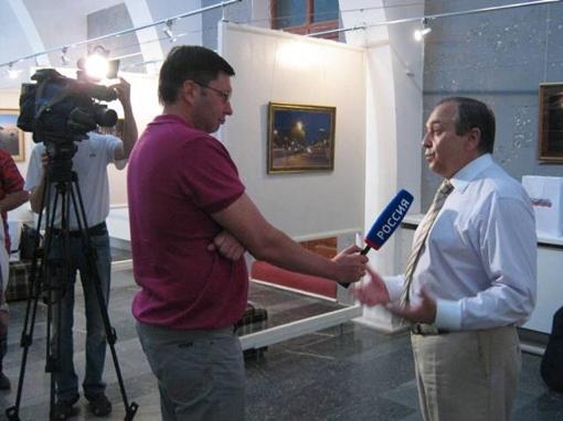 Г.Мурадов дает интервью телеканалу Россия