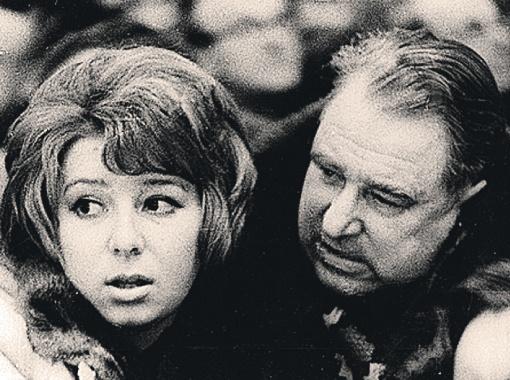 Татьяна Тарасова и ее легендарный отец Анатолий Тарасов.