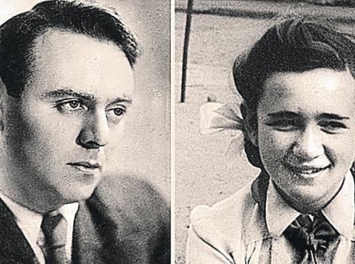 Оператор Борис Волчек и его дочь - будущий худрук театра «Современник» Галина Волчек.