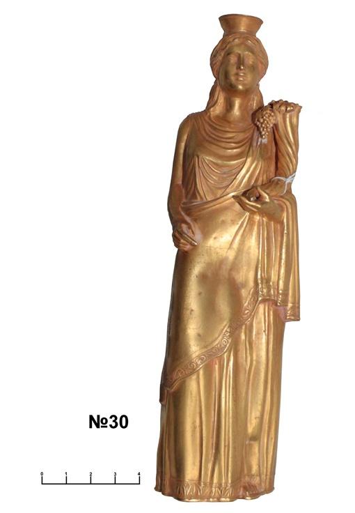 Эти уникальные вещи были изъяты милицией из частной коллекции. Золотое украшение скифо- сарматской эпохи, античная золотая статуэтка.