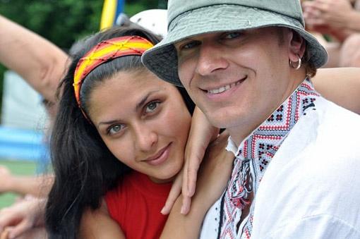 Татьяна Канюка и Александр Положинский на съемках «БУМа» в Аргентине.