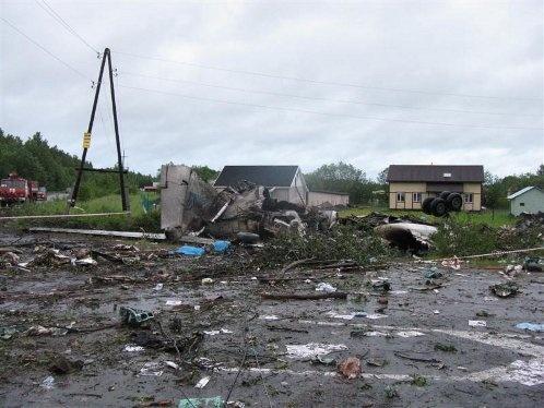 Обломки Ту-134. Фото: МЧС